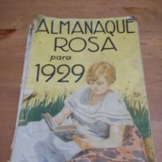 Coleccionismo de Revistas y Periódicos: ALMANAQUE ROSA PARA 1929. Lote 107009115