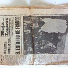 Coleccionismo de Revistas y Periódicos: HOJA DEL LUNES 24 NOVIEMBRE 1975. Lote 107168867