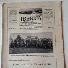 Coleccionismo de Revistas y Periódicos: REVISTA IBERICA Nº67 AÑO 1915,MOTOCICLETA EN LA GUERRA.REHABILITACION PUERTO TORTOSA. Lote 107203943