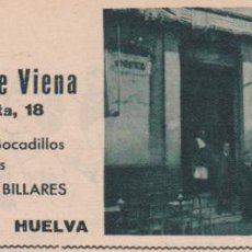 Coleccionismo de Revistas y Periódicos: * HUELVA * CERVECERÍA DE VIENA - 1933. Lote 107215187