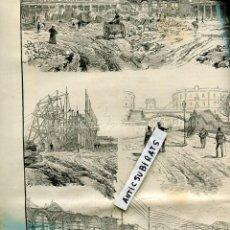 Coleccionismo de Revistas y Periódicos: REVISTA AÑO 1888 EXPOSICION UNIVERSAL DE BARCELONA CONSTRUCCION DE PAVELLONES . Lote 107224543