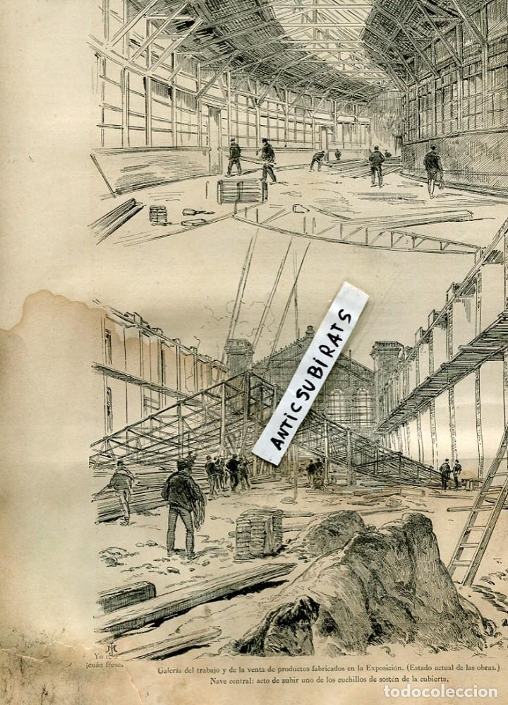 REVISTA AÑO 1888 EXPOSICION UNIVERSAL DE BARCELONA TRABAJOS CONSTRUCCIONES (Coleccionismo - Revistas y Periódicos Antiguos (hasta 1.939))