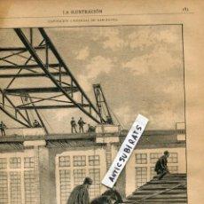 Coleccionismo de Revistas y Periódicos: REVISTA AÑO 1888 EXPOSICION UNIVERSAL DE BARCELONA PALACIO DE LA INDUSTRIA CATARATAS DEL IGUAZU . Lote 107226807