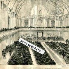 Coleccionismo de Revistas y Periódicos: REVISTA AÑO 1888 INAUGURACION DE LA EXPOSICION UNIVERSAL DE BARCELONA ARCO . Lote 107231371