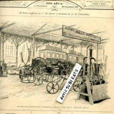 Coleccionismo de Revistas y Periódicos: REVISTA AÑO 1888 EXPOSICION UNIVERSAL DE BARCELONA ALBERTO AHLES . Lote 107238599