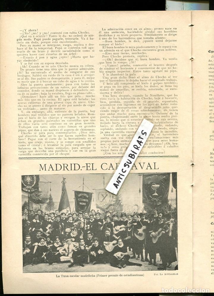 REVISTA 1907 TREN MINAS OJOS NEGROS EN SAGUNTO TUNAS ESTUDIANTINA ALFONSO VICTORIA ESCOLAR MADRILEÑA (Coleccionismo - Revistas y Periódicos Antiguos (hasta 1.939))