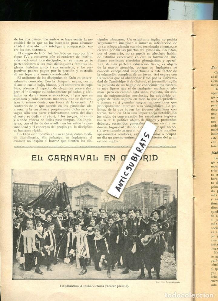Coleccionismo de Revistas y Periódicos: REVISTA 1907 TREN MINAS OJOS NEGROS EN SAGUNTO TUNAS ESTUDIANTINA ALFONSO VICTORIA ESCOLAR MADRILEÑA - Foto 2 - 107270835