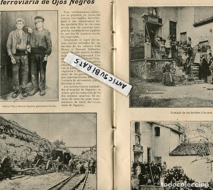 Coleccionismo de Revistas y Periódicos: REVISTA 1907 TREN MINAS OJOS NEGROS EN SAGUNTO TUNAS ESTUDIANTINA ALFONSO VICTORIA ESCOLAR MADRILEÑA - Foto 3 - 107270835