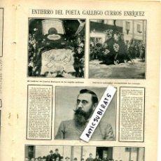 Coleccionismo de Revistas y Periódicos: REVISTA AÑO 1908 ENTIERRO CURROS ENRIQUEZ ESGRIMA LANCHO JIMENEZ GIRALT AGUINAGA PORTUGAL . Lote 107343099