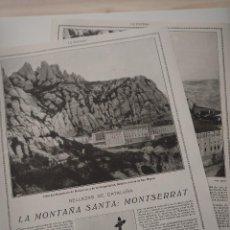 Coleccionismo de Revistas y Periódicos: REPORTAJE REVISTA ORIGINAL 1914-1915. LA MONTAÑA SANTA:MONTSERRAT. Lote 107344379