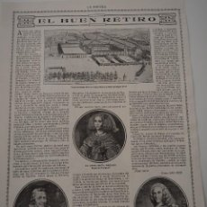 Coleccionismo de Revistas y Periódicos: HOJA REVISTA ORIGINAL 1914-1915. EL BUEN RETIRO, POR DIEGO SAN JOSE. Lote 107344691