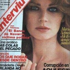 Coleccionismo de Revistas y Periódicos: REVISTA INTERVIU NUMERO 93 - MARIA SCHNEIDER. Lote 107349123