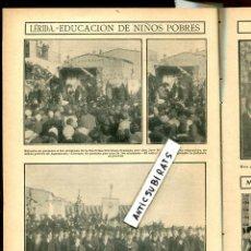 Coleccionismo de Revistas y Periódicos: REVISTA AÑO 1908 FOTOS DE AGRAMUNT CONDE DE LUMIARES EN ALICANTE CARTEL FERIA EXPOSICION DE VALENCIA. Lote 107409983
