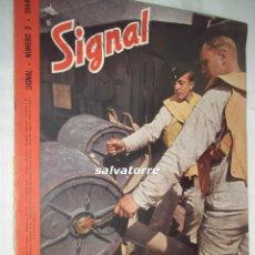 Coleccionismo de Revistas y Periódicos: REVISTA SIGNAL. 1944. NUMERO 5.PORTADA DIFERENTE.LEON DEGELLE.FALANGE..ALBERT SPEER.NAZIS. Lote 107413491