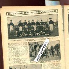 Coleccionismo de Revistas y Periódicos: REVISTA AÑO 1909 EL REY EN ALICANTE FUTBOL FOTO EQUIPOS DEL SABADELL Y EL VICTORIA . Lote 107414311