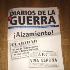 Coleccionismo de Revistas y Periódicos: DIARIOS DE LA GUERRA COLECCIÓN ÚNICA DE LOS PERIÓDICOS 1936 1939 NÚMERO 1. Lote 107469048