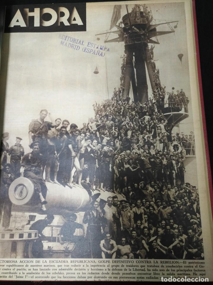 DIARIO AHORA, AGOSTO COMPLETO DE 1936, UNA JOYA. VER FOTOS. (Coleccionismo - Revistas y Periódicos Antiguos (hasta 1.939))