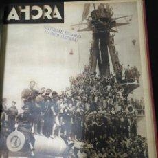 Coleccionismo de Revistas y Periódicos: DIARIO AHORA, AGOSTO COMPLETO DE 1936, UNA JOYA. VER FOTOS.. Lote 107595603