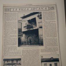Coleccionismo de Revistas y Periódicos: HOJA REVISTA ORIGINAL 1914-1915. LA VILLA ARCAICA, SANTILLANA DEL MAR. Lote 107634027