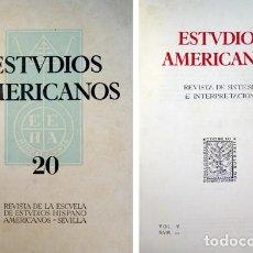 Coleccionismo de Revistas y Periódicos: ESTUDIOS AMERICANOS. REVISTA DE LA ESCUELA DE ESTUDIOS HISPANOAMERICANOS DE SEVILLA. N.20, MAYO 1953. Lote 107642767