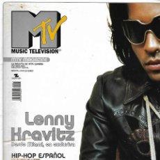 Coleccionismo de Revistas y Periódicos: REVISTA MTV MUSIC TELEVISION Nº 01, LENNY KRAVITZ. Lote 107725815