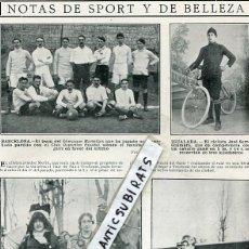 Coleccionismo de Revistas y Periódicos: REVISTA 1910 OLIMPIQUE MARSELLAIS FUTBOL RCD CLUB DEPORTIVO ESPAÑOL CICLISTA JOSE SERRA DE IGUALADA. Lote 107747803