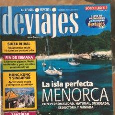 Coleccionismo de Revistas y Periódicos: REVISTA DEVIAJES Nº 39, JULIO 2002. Lote 107798579
