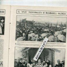 Coleccionismo de Revistas y Periódicos: REVISTA AÑO 1911 MASAMAGRELL FUTBOL RCD ESPAÑOL Y EL MANRESA CARRERA CICLISTA EN GRANOLLERS. Lote 107846067