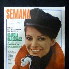 Coleccionismo de Revistas y Periódicos: REVISTA SEMANA, Nº 1524, AÑO 1969. CLAUDIA CARDINALE. Lote 107949631