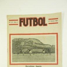 Coleccionismo de Revistas y Periódicos: REVISTA FUTBOL, 27 DE DICIEMBRE 1921, Nº 107-AÑO 3. 20,5X27,5CM. Lote 107962503