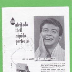 Coleccionismo de Revistas y Periódicos: PUBLICIDAD 1963. ANUNCIO FLOÏD ELECTRIC PRE SHAVE. Lote 108131171