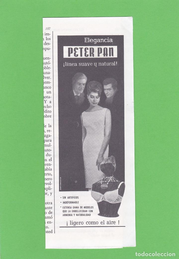 a4a00e8ec15e PUBLICIDAD 1963. ANUNCIO SUJETADOR PETER PAN. LENCERIA
