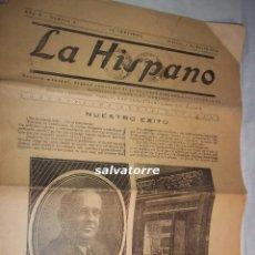 Coleccionismo de Revistas y Periódicos: PERIODICO LA HISPANO.SAN SEBASTIAN.PAIS VASCO.EUSKADI.1924. DIFICIL. Lote 108263155