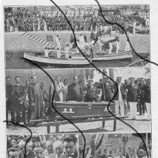 Coleccionismo de Revistas y Periódicos: BARCELONA CADAVER AVIADOR 1927 HOJA REVISTA. Lote 108334603
