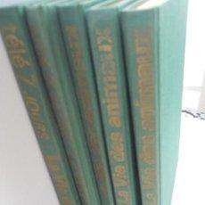 Coleccionismo de Revistas y Periódicos: LA VIE DES ANIMAUX, TELE 7 JOURS CINCO TOMOS LAMINAS DOBLES PROTEGIDAS CON FUNDAS TRASPARENTES . Lote 108439119