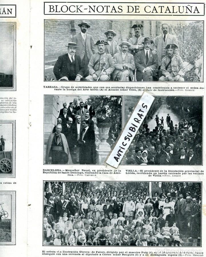 REVISTA AÑO 1913 VIELLA ILUSTRACION OBRERA ORFEON DE FALSET TESALONICA SALONICA FUTBOL RCD ESPAÑOL (Coleccionismo - Revistas y Periódicos Antiguos (hasta 1.939))