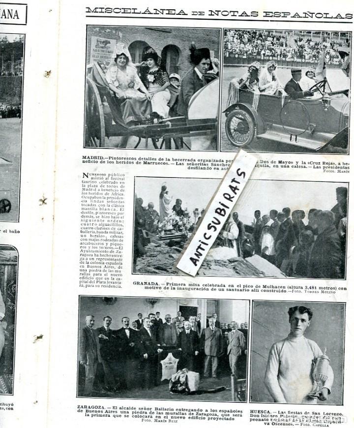 REVISTA AÑ 1913 MISA EN EL MULACEN GRANADA FUTBOL DEPORTIVO ESPAÑOL RCD EN SANTA COLOMA DE CERVELLO (Coleccionismo - Revistas y Periódicos Antiguos (hasta 1.939))