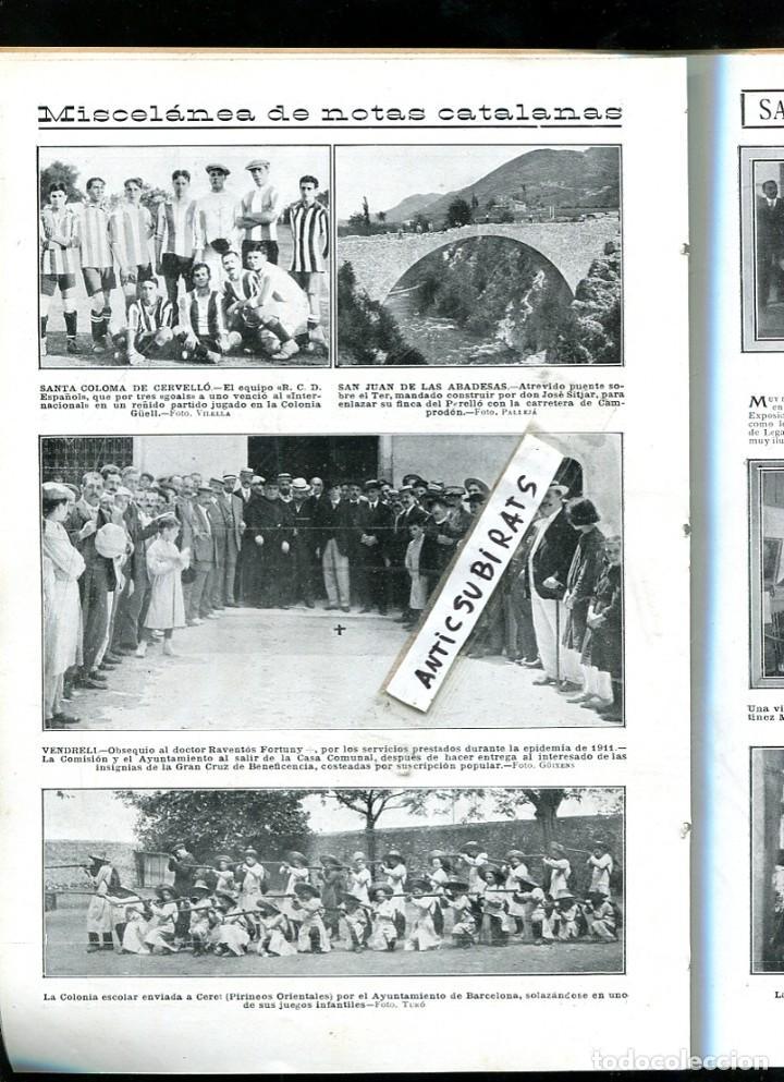 Coleccionismo de Revistas y Periódicos: REVISTA AÑ 1913 MISA EN EL MULACEN GRANADA FUTBOL DEPORTIVO ESPAÑOL RCD EN SANTA COLOMA DE CERVELLO - Foto 2 - 108675927