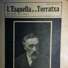 Coleccionismo de Revistas y Periódicos: REVISTA L'ESQUELLA DE LA TORRATXA NÚMERO 2573 17 DE OCTUBRE DE 1923. Lote 108691155