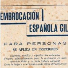 Coleccionismo de Revistas y Periódicos: PUBLICIDAD. EMBROCACIÓN ESPAÑOLA GIL. 1916.. Lote 108752739