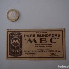 Coleccionismo de Revistas y Periódicos: PUBLICIDAD REVISTA ORIGINAL AÑOS 50 CUBA. PILAS BLINDADAS MBC. Lote 108772603