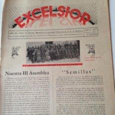 Coleccionismo de Revistas y Periódicos: REVISTA EXCELSIOR FEBRERO 1937 JUVENTUD FEMENINA A.C. MALLORCA GUERRA CIVIL. Lote 108793011