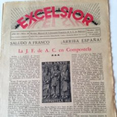 Coleccionismo de Revistas y Periódicos: REVISTA EXCELSIOR NOVIEMBRE 1937 JUVENTUD FEMENINA A.C. MALLORCA GUERRA CIVIL, COMPOSTELA. Lote 108793187