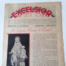 Coleccionismo de Revistas y Periódicos: REVISTA EXCELSIOR OCTUBRE 1937 JUVENTUD FEMENINA A.C. MALLORCA GUERRA CIVIL,VILLAFRANCA BONANY. Lote 108793231