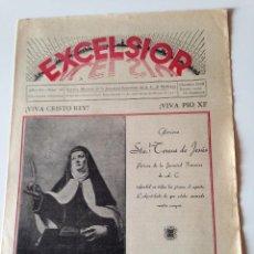 Coleccionismo de Revistas y Periódicos: REVISTA EXCELSIOR OCTUBRE 1938 JUVENTUD FEMENINA A.C. MALLORCA GUERRA CIVIL. PALESTINA. Lote 108793451