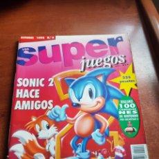 Coleccionismo de Revistas y Periódicos: REVISTA SUPER JUEGOS 1992 N-6. Lote 108885500