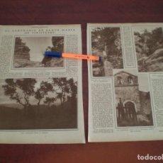 Coleccionismo de Revistas y Periódicos: SANTUARIO SANTA MARIA FINISTERRE -AÑOS 20- RECORTE PRENSA -VER DETALLES. Lote 108896995
