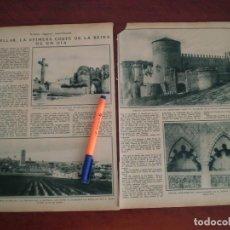 Coleccionismo de Revistas y Periódicos: CUELLAR -SEGOVIA - 3 PAG. - AÑOS 20 - RECORTE PRENSA -VER DETALLES. Lote 244931035