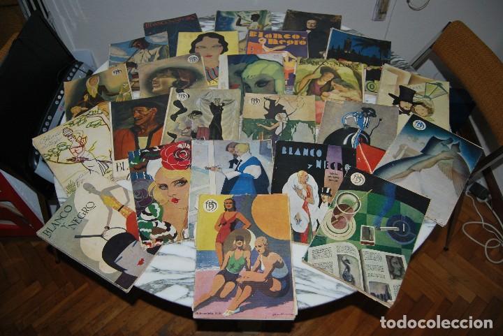 REVISTA BLANCO Y NEGRO - 24 NÚMEROS - AÑOS 1933, 1934, 1935 Y 1936 (Coleccionismo - Revistas y Periódicos Antiguos (hasta 1.939))