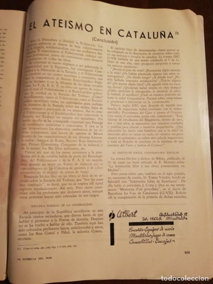 Coleccionismo de Revistas y Periódicos: REVISTA LA ESTRELLA DEL MAR - MONASTERIO DE GUADALUPE , EL HUMILLADERO Año 1935 - Foto 3 - 109055191